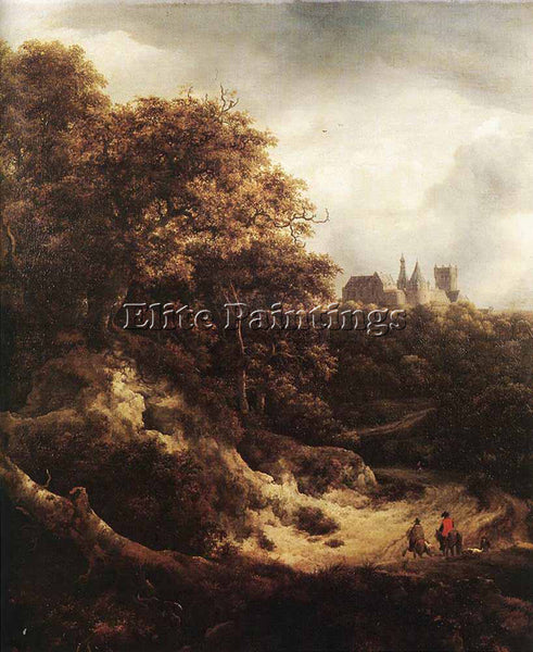 JACOB VAN RUISDAEL THE CASTLE AT BENTHEIM ARTIST PAINTING REPRODUCTION HANDMADE