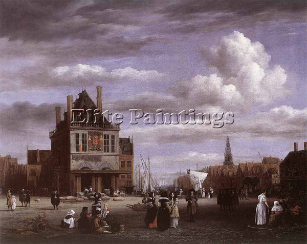 JACOB VAN RUISDAEL THE DAM SQUARE IN AMSTERDAM ARTIST PAINTING REPRODUCTION OIL