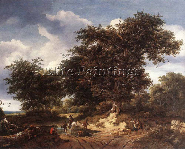 JACOB VAN RUISDAEL THE GREAT OAK ARTIST PAINTING REPRODUCTION HANDMADE OIL REPRO