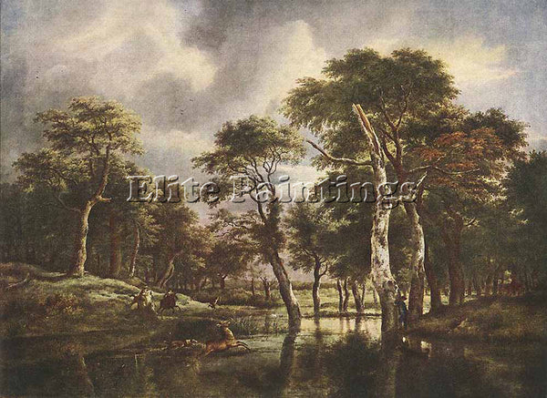 JACOB VAN RUISDAEL THE HUNT ARTIST PAINTING REPRODUCTION HANDMADE OIL CANVAS ART