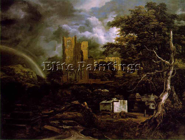 JACOB VAN RUISDAEL THE JEWISH CEMETARY 2 ARTIST PAINTING REPRODUCTION HANDMADE