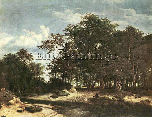 JACOB VAN RUISDAEL THE LARGE FOREST ARTIST PAINTING REPRODUCTION HANDMADE OIL