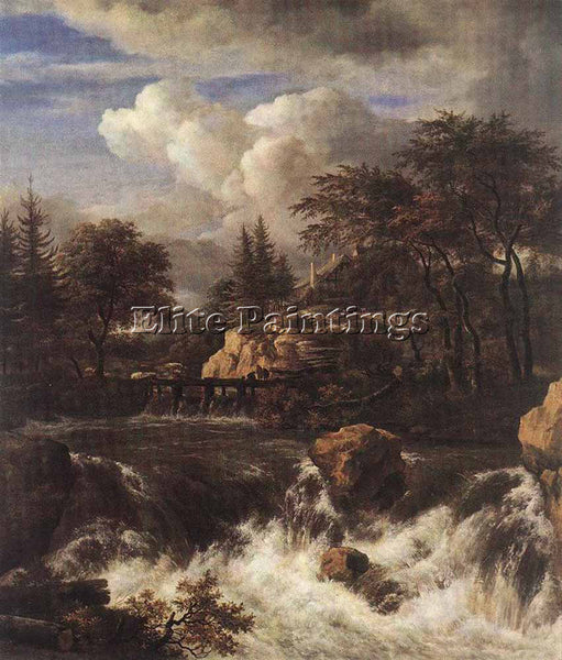 JACOB VAN RUISDAEL WATERFALL IN A ROCKY LANDSCAPE ARTIST PAINTING REPRODUCTION