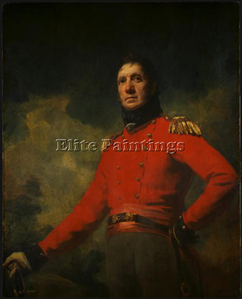 SIR HENRY RAEBURN COLONEL FRANCIS JAMES SCOTT ARTIST PAINTING REPRODUCTION OIL