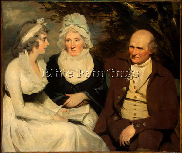 SIR HENRY RAEBURN JOHN JOHNSTONE BETTY JOHNSTONE AND MISS WEDDERBURN OIL CANVAS
