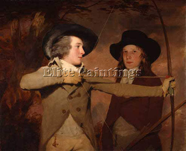 SIR HENRY RAEBURN THE ARCHERS ARTIST PAINTING REPRODUCTION HANDMADE CANVAS REPRO