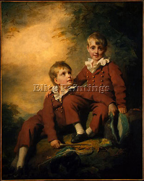 SIR HENRY RAEBURN THE BINNING CHILDREN ARTIST PAINTING REPRODUCTION HANDMADE OIL