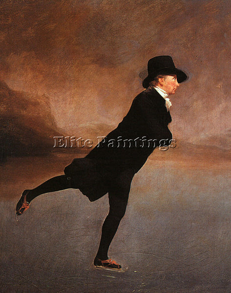 SIR HENRY RAEBURN THE REVEREND ROBERT WALKER SKATING ARTIST PAINTING HANDMADE
