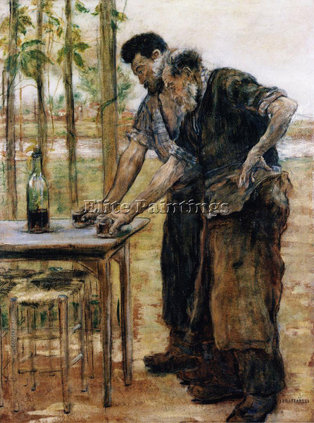 JEAN FRANCOIS RAFFAELLI BLACKSMITHS TAKING A DRINK ARTIST PAINTING REPRODUCTION
