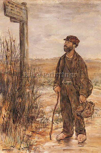 JEAN FRANCOIS RAFFAELLI UN CLOCHARD ARTIST PAINTING REPRODUCTION HANDMADE OIL