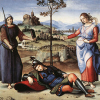 RAFFAELLO RAPHAEL ALLEGORY THE KNIGHT S DREAM ARTIST PAINTING REPRODUCTION OIL