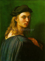 RAFFAELLO RAPHAEL PORTRAIT OF BINDO ALTOVITI ARTIST PAINTING HANDMADE OIL CANVAS