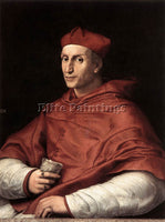 RAFFAELLO RAPHAEL PORTRAIT OF CARDINAL BIBBIENA ARTIST PAINTING REPRODUCTION OIL