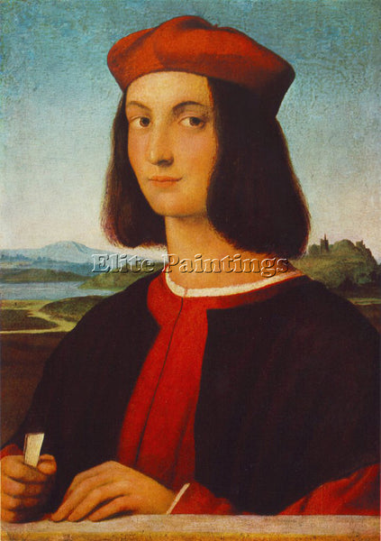 RAFFAELLO RAPHAEL PORTRAIT OF PIETRO BEMBO ARTIST PAINTING REPRODUCTION HANDMADE