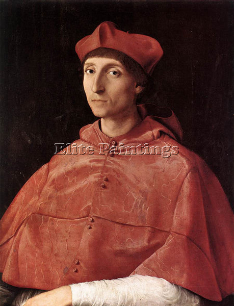 RAFFAELLO RAPHAEL PORTRAIT OF A CARDINAL ARTIST PAINTING REPRODUCTION HANDMADE