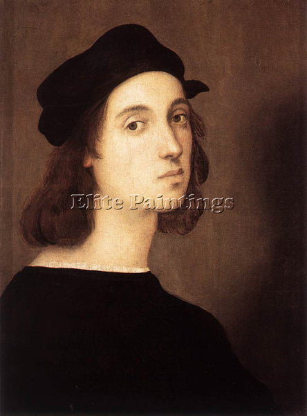 RAFFAELLO RAPHAEL SELF PORTRAIT ARTIST PAINTING REPRODUCTION HANDMADE OIL CANVAS