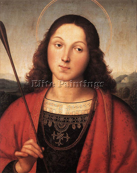 RAFFAELLO RAPHAEL ST SEBASTIAN ARTIST PAINTING REPRODUCTION HANDMADE OIL CANVAS