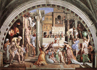 RAFFAELLO RAPHAEL STANZE VATICANE THE FIRE IN THE BORGO ARTIST PAINTING HANDMADE