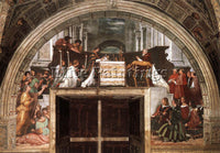 RAFFAELLO RAPHAEL STANZE VATICANE THE MASS AT BOLSENA ARTIST PAINTING HANDMADE