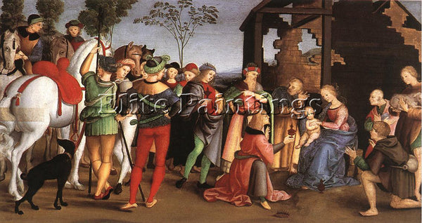 RAFFAELLO RAPHAEL THE ADORATION OF THE MAGI ARTIST PAINTING HANDMADE OIL CANVAS