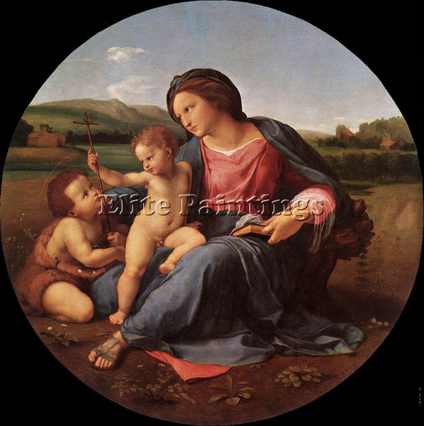 RAFFAELLO RAPHAEL THE ALBA MADONNA ARTIST PAINTING REPRODUCTION HANDMADE OIL ART
