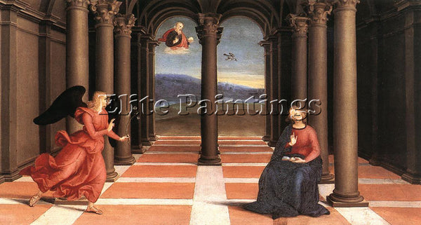 RAFFAELLO RAPHAEL THE ANNUNCIATION ARTIST PAINTING REPRODUCTION HANDMADE OIL ART