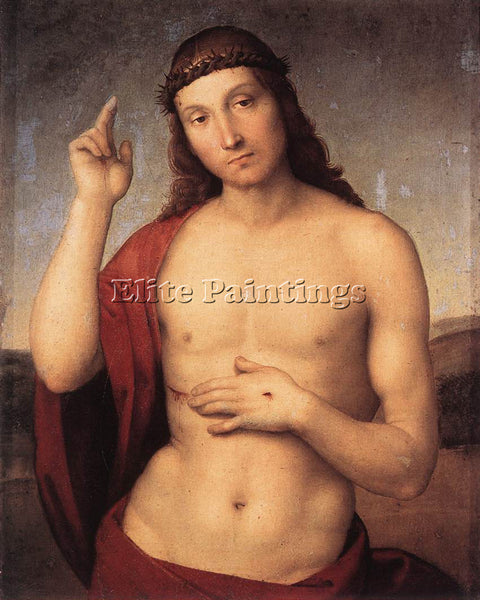 RAFFAELLO RAPHAEL THE BLESSING CHRIST ARTIST PAINTING REPRODUCTION HANDMADE OIL