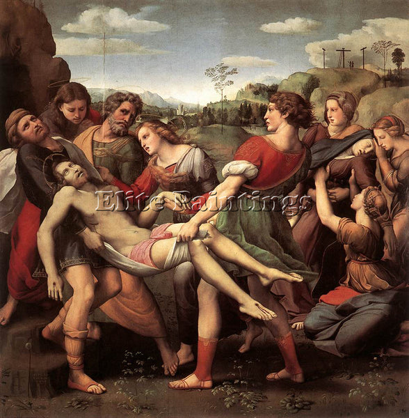 RAFFAELLO RAPHAEL THE ENTOMBMENT ARTIST PAINTING REPRODUCTION HANDMADE OIL REPRO