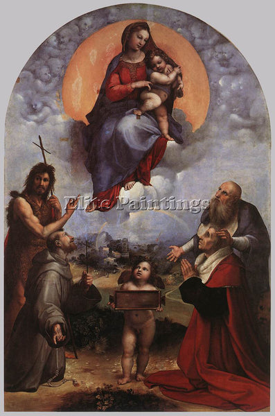 RAFFAELLO RAPHAEL THE MADONNA OF FOLIGNO ARTIST PAINTING REPRODUCTION HANDMADE