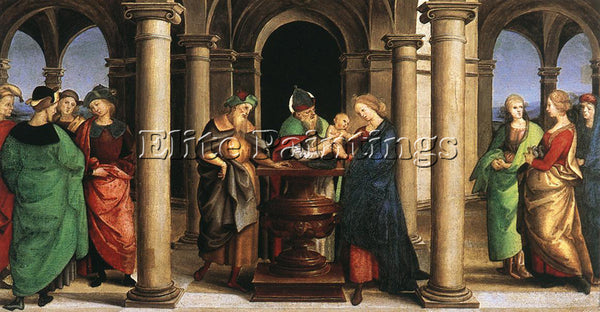 RAFFAELLO RAPHAEL THE PRESENTATION IN THE TEMPLE ARTIST PAINTING HANDMADE CANVAS