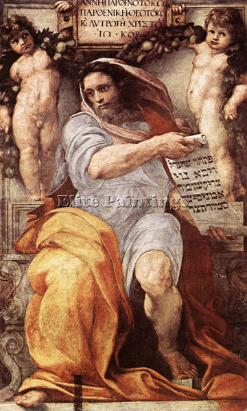 RAFFAELLO RAPHAEL THE PROPHET ISAIAH ARTIST PAINTING REPRODUCTION HANDMADE OIL