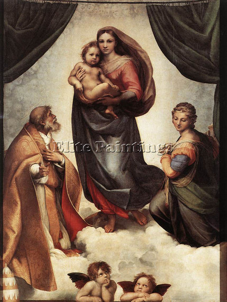 RAFFAELLO RAPHAEL THE SISTINE MADONNA ARTIST PAINTING REPRODUCTION HANDMADE OIL