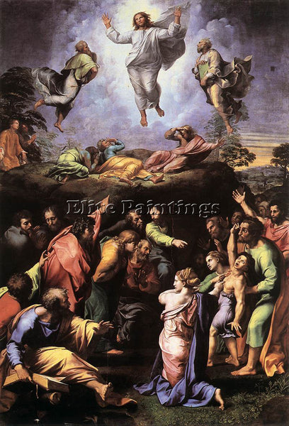 RAFFAELLO RAPHAEL THE TRANSFIGURATION ARTIST PAINTING REPRODUCTION HANDMADE OIL