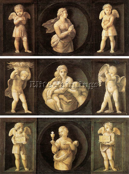 RAFFAELLO RAPHAEL THEOLOGICAL VIRTUES ARTIST PAINTING REPRODUCTION HANDMADE OIL