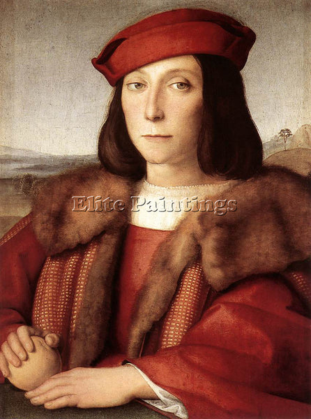 RAFFAELLO RAPHAEL YOUNG MAN WITH AN APPLE ARTIST PAINTING REPRODUCTION HANDMADE