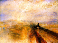 WILLIAM TURNER RAIN STEAM AND SPEED THE GREAT WESTERN RAILWAY BY TURNER PAINTING
