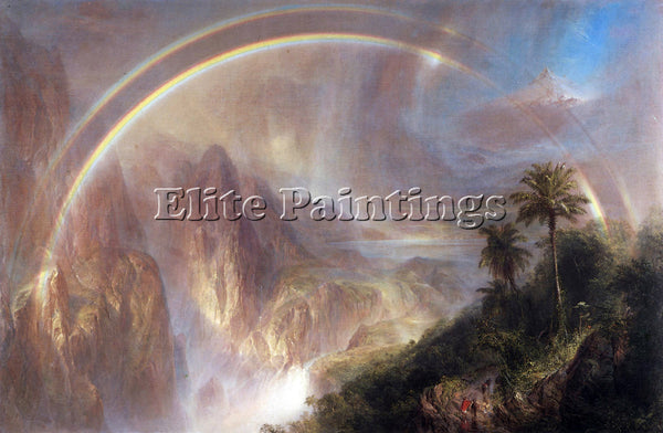 HUDSON RIVER RAINY SEASON IN THE TROPICS BY FREDERICK EDWIN CHURCH REPRODUCTION
