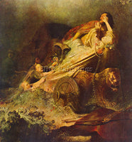 REMBRANDT RAPE OF THE PROSERPINA ARTIST PAINTING REPRODUCTION HANDMADE OIL REPRO