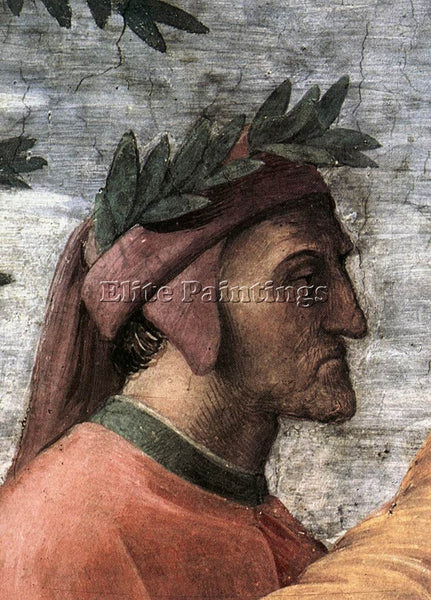 RAPHAEL THE PARNASSUS DETAIL8 ARTIST PAINTING REPRODUCTION HANDMADE CANVAS REPRO