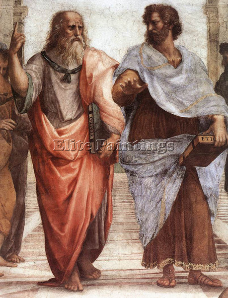 RAPHAEL THE SCHOOL OF ATHENS DETAIL1 ARTIST PAINTING REPRODUCTION HANDMADE OIL