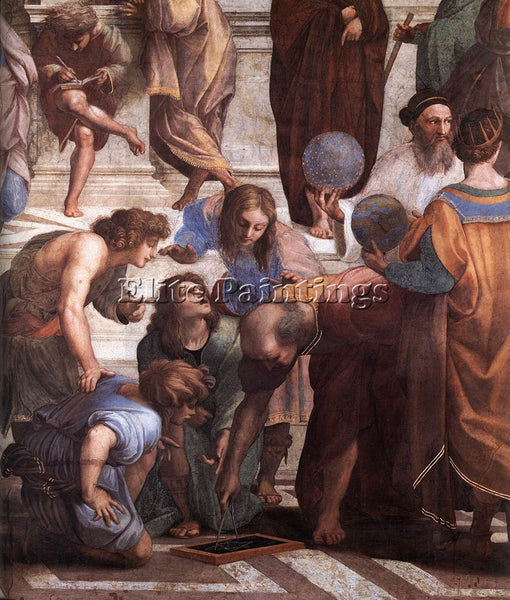 RAPHAEL THE SCHOOL OF ATHENS DETAIL3 ARTIST PAINTING REPRODUCTION HANDMADE OIL