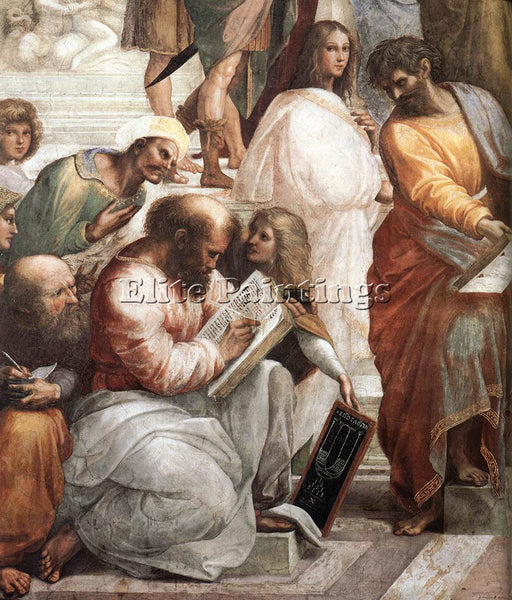 RAPHAEL THE SCHOOL OF ATHENS DETAIL4 ARTIST PAINTING REPRODUCTION HANDMADE OIL