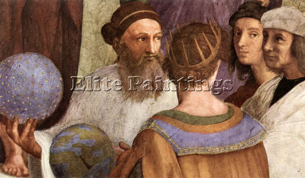 RAPHAEL THE SCHOOL OF ATHENS DETAIL6 ARTIST PAINTING REPRODUCTION HANDMADE OIL