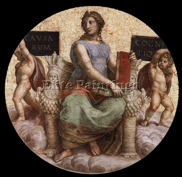 RAPHAEL THE STANZA DELLA SEGNATURA PHILOSOPHY ARTIST PAINTING REPRODUCTION OIL