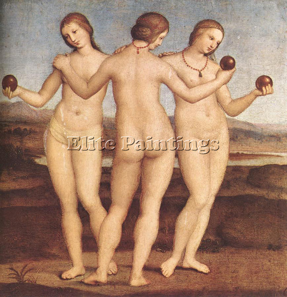 RAPHAEL THE THREE GRACES ARTIST PAINTING REPRODUCTION HANDMADE CANVAS REPRO WALL