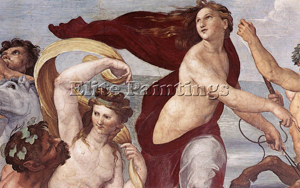 RAPHAEL THE TRIUMPH OF GALATEA DETAIL1 ARTIST PAINTING REPRODUCTION HANDMADE OIL