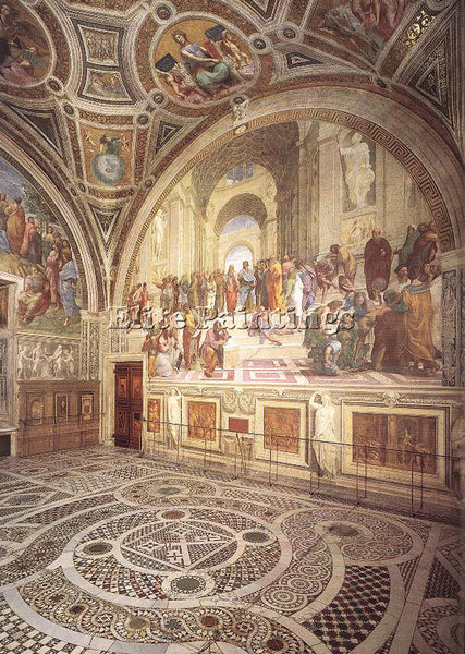 RAPHAEL VIEW OF THE STANZA DELLA SEGNATURA ARTIST PAINTING REPRODUCTION HANDMADE