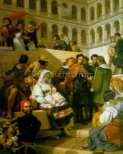 HORACE VERNET RAPHAEL ARTIST PAINTING REPRODUCTION HANDMADE OIL CANVAS REPRO ART