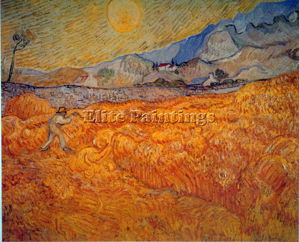 VAN GOGH REAPER ARTIST PAINTING REPRODUCTION HANDMADE CANVAS REPRO WALL  DECO