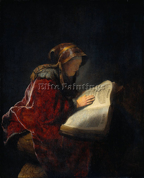 REMBRANDT THE PROPHETESS ANNA KNOWN AS S MOTHER  ARTIST PAINTING HANDMADE CANVAS